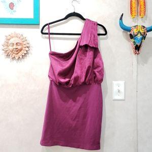 Armani Exchange AX One Shoulder Dress Satin Size 8